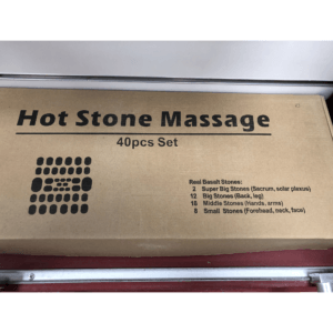 Massage Stones Set 40 pieces